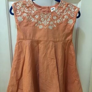 3/$25 Peach Embroidered Girls Dress